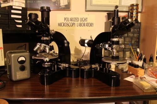 Two Leitz Ortholux Microscopes