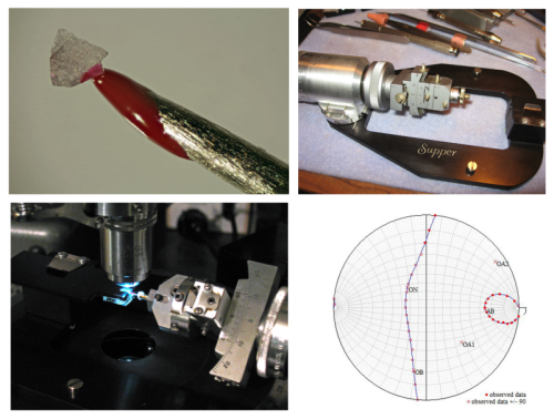 Photo collage of various aspects of spindle stage analysis